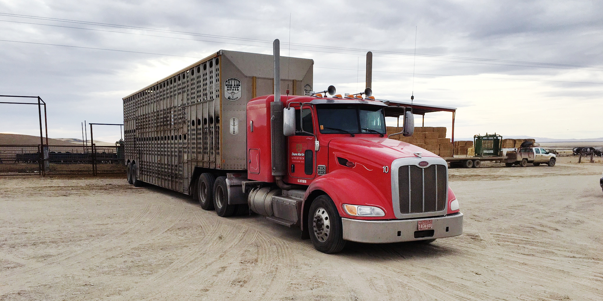 Red Cattle Truck for Hire